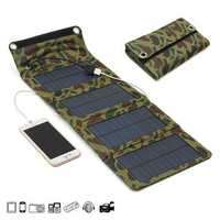 IPRee® 7W 5.5V Portable Folding Solar Panel USB Charger Mobile Power Source For Cell Phone GPS Camera