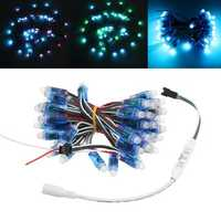 DC5V 5M 50PCS 21W WS2811 RGB IP68 Full Color LED Pixel Module Strip Light with DC Connector
