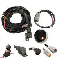 40A Relay 300cm Wiring Harness Kit ON OFF Switch For LED Spot Lightts Work Fog Light