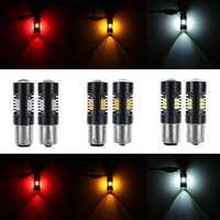 Pair 1156 1157 BAY15D P21/5W 2835SMD LED Car Brake Lights Tail Lamp Car Backup light Turn Bulb