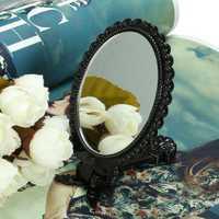 Foldable Mini Makeup Mirror Cosmetic Black Pocket Girl