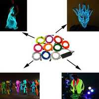 1M 10 Colors 12V Flexible Neon EL Wire Light Dance Party Decor Light