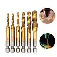 Drillpro DB-C5 HSS 6542 M3-M10 Combination Tap Metric Deburr Countersink Drill Bit