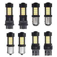 Pair 447LM 4.4W White LED Car Brake Backup lights Turn Bulb Lamp 3157 7443 1156 1157 2835