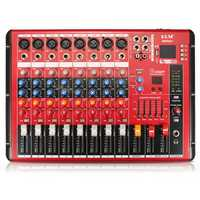 EL M SMR801 8 Channel Professional bluetooth Karaoke KTV Audio Sound Mixing Mixer Amplifier