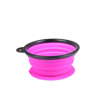Portable Collapsible Silicone Pet Bowl Food Water Feeding Foldable Bowl