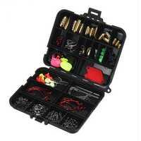 Bobing 20Kinds 128pcs Fishing Accessories Kits Hooks Swivels Sinker Stoppers Connecctors Sequins Box