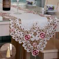 Four Size Pastoral Table Runner Flower Tablecloth Wedding Party Home Decorative Mat