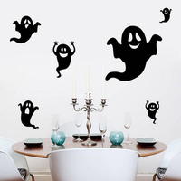 Creative Halloween Haunted House Glass Wall Stickers Children Bedroom Decoration Sticker Wall Art