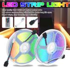 Meilleurs prix Waterproof 2*5M SMD2835 LED Strip Light Kit RGB Flexible Outdoor Tape Lamp with 5A Power Adapter + 44keys IR Remote Control