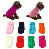 Pet Dog Cat Clothes Winter Solid Warm Sweater Knitwear Puppy Clothes