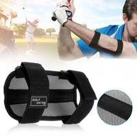 Golf Swing Gesture Practice Training Aids Elbow Support Brace Arm Band Trainer