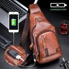 Meilleurs prix Bullcaptain Genuine Leather Business Casual Chest Bag Shoulder Crossbody Bag