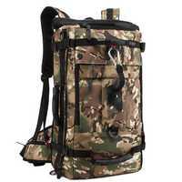 KAKA 40L Multifunctional Men Mountaineering Oxford Backpack Casual Travel Crossbody Bag