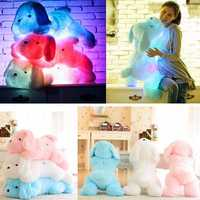 Creative Cute Inductive Nightlight Plush LED Glow Soft Light Up Stuff Toy Dog Pet Pillow