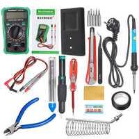 110V/220V 60W Electric Adjustable Temperature Solder Iron Multimeter Plier Tools Kit