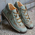 Discount pas cher Men Hand Stitching Microfiber Leather Comfy Soft Boots