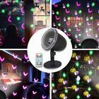 Meilleurs prix 7.5W 4 LED Halloween Projection Stage Light Outdoor Remote Control Waterproof Lamp for Party Festival AC100-240V