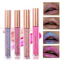 FOCALLURE 6 Colors Metallic Matte Lip Gloss Liquid Diamond Glitter Lipsticks Cosmetics Makeup