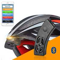 ROCKBROS Smart bluetooth Helmet Audio Riding Bicycle Bell Speaker Hands Free Phone Call Voice Navigation Waterproof IP54