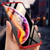 Bakeey™ 3 in 1 Double Dip 360° Hard PC Protective Case For iPhone XS