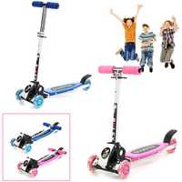 3 Wheels 15km/h Foldable Aluminum Alloy PU Wheel Anti-Skidding Kick Scooter For Kids