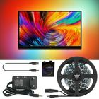 Prix de gros Ambilight DC5V 2M/3M/4M/5M WS2812B 5050 RGB Dream Color USB APP LED Strip Light for Desktop PC Screen