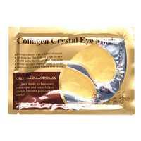 1 Pair 24K Gold Crystal Collagen Eye Mask Dark Circle Eye Bags Patches