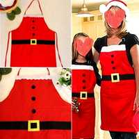 Christmas Novelty Kitchen Cooking Apron Party Xmas Fun Gift Child Adult Apron