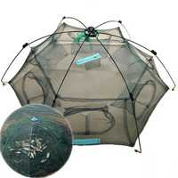 ZANLURE New Folded 80x80cm/100X100cm Folding Crab fish Minnow Fishing Trap Cast Net Fishing Net