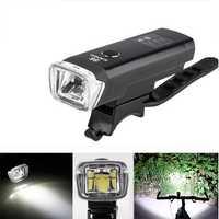 2Pcs XANES SFL03 600LM XPG LED German Standard Smart Induction Bicycle Light IPX4 USB Rechargeable Large Flood Light