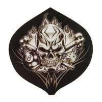 Skull Skeleton Head Decal Motorcycle Car Cool Style Decal Sticker