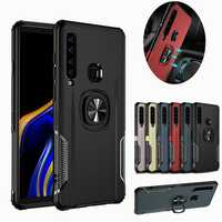 Bakeey Protective Case For Samsung Galaxy A9 2018 Ring Grip Bracket Magnetic Adsorption Back Cover