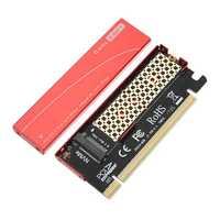 JEYI NVME M.2 PCI-E X16 2280 Expansion Card Gold Bar Aluminum Sheet Thermal Conductivity