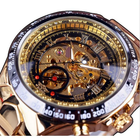 Offres Flash WINNER Fashion Shining Roman Numerals Mechanical Watch Luxury Golden Men Automatic Watch