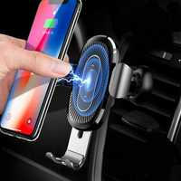 Baseus 10W Qi Wireless Fast Charging Gravity Auto Lock Air Vent Car Phone Holder Stand for iPhone 8 X