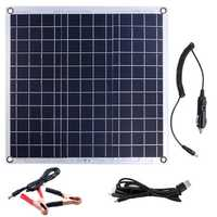 60W Aluminum Plate Solar Panel Dual USB Port Solar Powered Panel