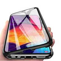 Bakeey Magnetic Adsorption Metal Bumper & Double-sided Tempered Glass Flip Protective Case for Samsung Galaxy A50 2019