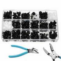 415pcs Push Pin Rivet Bumper Panel Clip Retainer Fastener And Pliers Tool For Ford