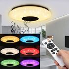 Meilleurs prix Modern 60W RGB LED Ceiling Light bluetooth Music Speaker Lamp Remote APP Control