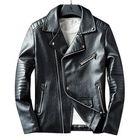 Acheter Mens Faux Leather Fashion Zipper Black Biker Jacket