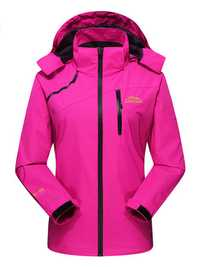 Women Casual Outdoor Waterproof Windproof Autumn Hooded Jackets