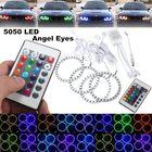Promotion 4PCS RGB 90MM Multi-Color 5050 Flash LED SMD 12V Angel Eyes and Remote Control