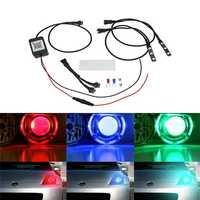 Pair bluetooth APP Control 5050 RGB LED Demon/Angel Eyes Lights for Offroad Headlight Retrofit