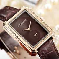 REBIRTH RE203 Square Dial Elegant Design Women Wrist Watch