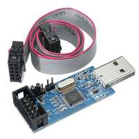 3.3V / 5V USBASP USBISP AVR Programmer Downloader USB ISP ASP ATMEGA8 ATMEGA128 Support Win7 64K Over-Current Protection Function With Download Cable