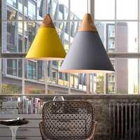 Diameter 25CM Modern Wooden Pendant Ceiling Hanging Lamp Chandelier Kitchen Light Fixture