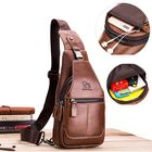 Acheter au meilleur prix Genuine Leather Sling Bag Chest Crossbody Bags for Men