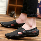 Meilleur prix Leather Soft Sole Casual Walking Driving Flats
