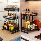 Prix de gros Multi-functional Storage kitchen Rack Microwave Oven Shelving Unit Bathroom Storage Shelf Kitchen Storage Container